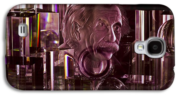 Einstein In Crystal - Purple Galaxy S4 Case