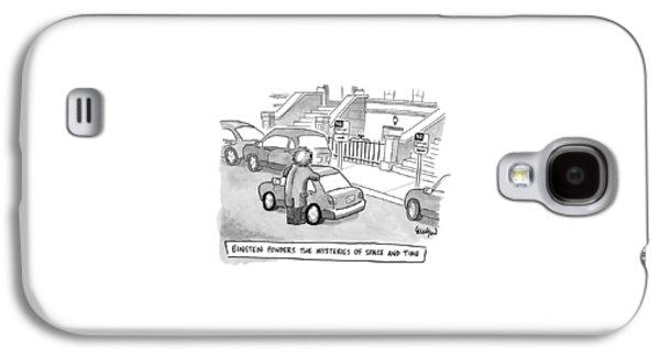 Einstein Is Seen Standing Next To A Parked Car Galaxy S4 Case