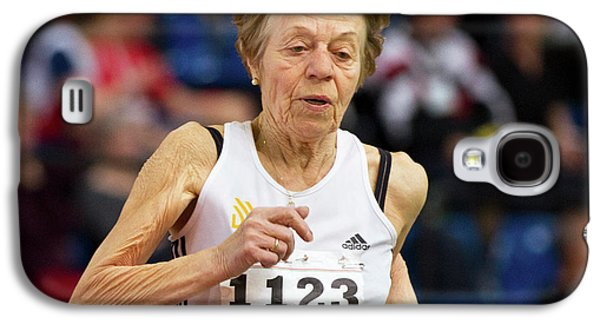 Elderly Female Athlete In Competition Galaxy S4 Case by Alex Rotas