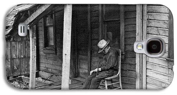 Elderly Man Doses On His Porch Galaxy S4 Case