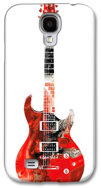 Electric Guitar - Buy Colorful Abstract Musical Instrument Galaxy S4 Case by Sharon Cummings