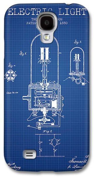 Electric Light Patent From 1880 - Blueprint Galaxy S4 Case by Aged Pixel