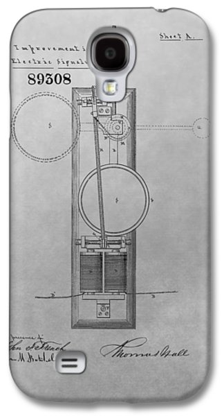 Electric Signal Patent Drawing Galaxy S4 Case by Dan Sproul