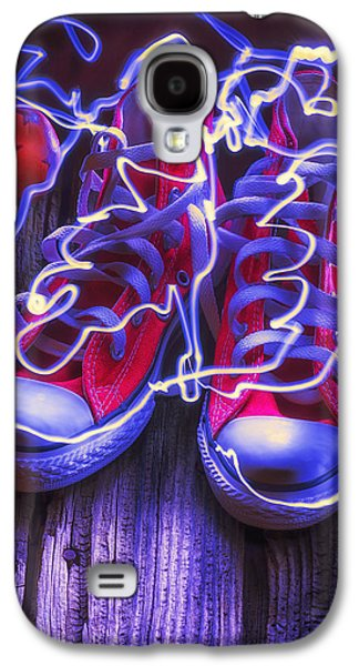 Electric Tennis Shoes  Galaxy S4 Case by Garry Gay