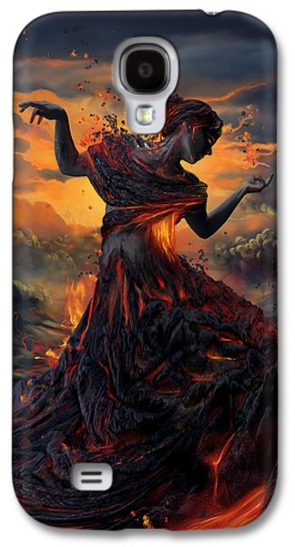 Elements - Fire Galaxy S4 Case by Cassiopeia Art