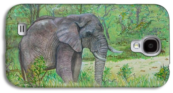 Elephant At Kruger Galaxy S4 Case by Caroline Street