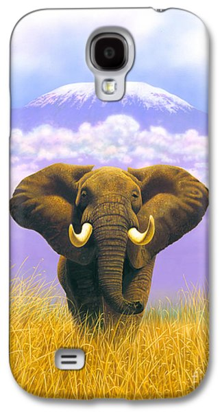 Elephant At Table Mountain Galaxy S4 Case by MGL Studio - Chris Hiett