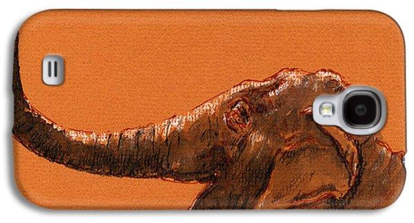 Elephant Indian Galaxy S4 Case by Juan  Bosco