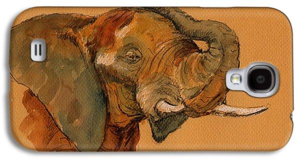 Elephant Galaxy S4 Case by Juan  Bosco