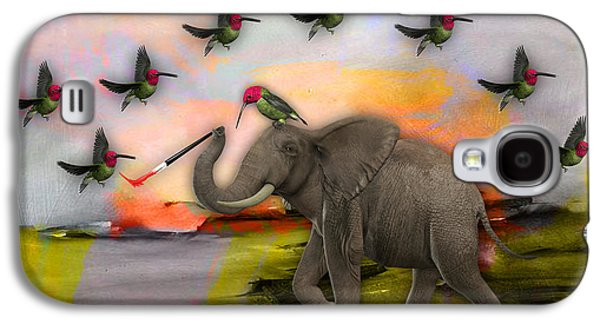Elephant Creating Birds Galaxy S4 Case