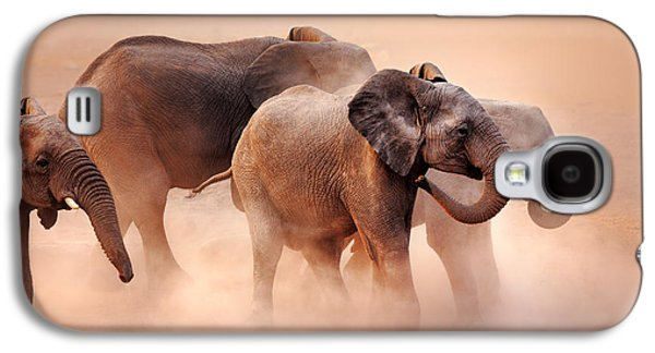 Elephants In Dust Galaxy S4 Case by Johan Swanepoel