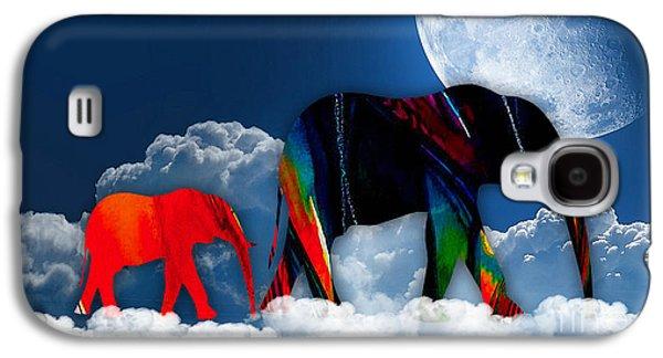 Elephants On Cloud 9 Galaxy S4 Case by Marvin Blaine
