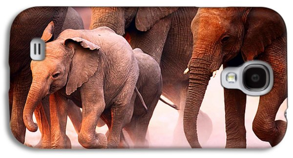 Elephants Stampede Galaxy S4 Case by Johan Swanepoel