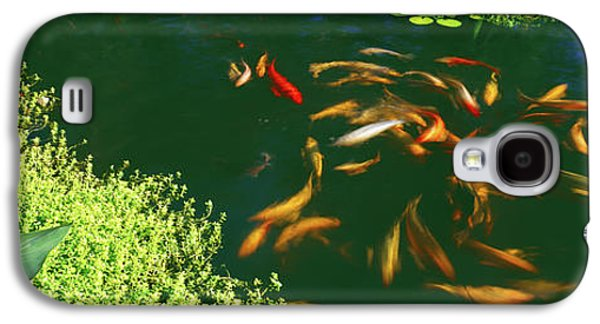 Elevated View Of School Of Koi Fish Galaxy S4 Case by Panoramic Images