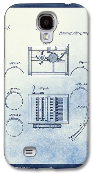 Eli Whitney's Cotton Gin Patent Galaxy S4 Case