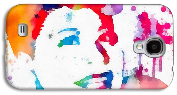 Ella Fitzgerald Paint Splatter Galaxy S4 Case