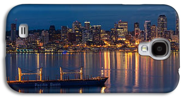 Elliott Bay Seattle Skyline Night Reflections  Galaxy S4 Case