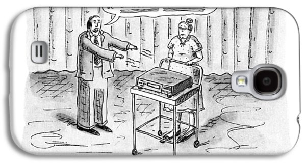 Ellis K., Appliance Faith Healer Galaxy S4 Case by Roz Chast