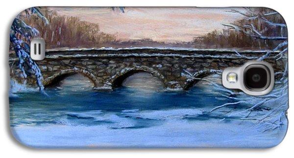 Elm Street Bridge On A Winter's Morn Galaxy S4 Case by Jack Skinner