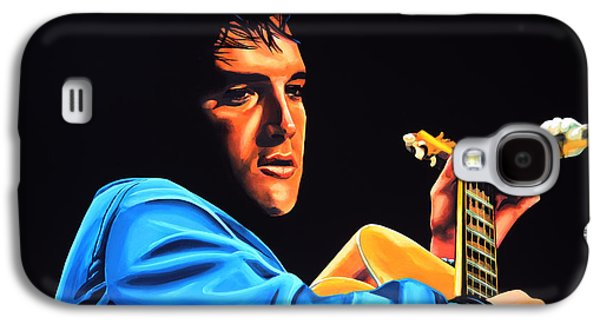 Elvis Presley 2 Painting Galaxy S4 Case by Paul Meijering