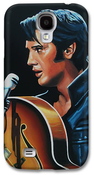 Rock And Roll Galaxy S4 Case - Elvis Presley 3 Painting by Paul Meijering