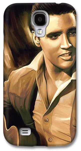 Elvis Presley Artwork Galaxy S4 Case by Sheraz A