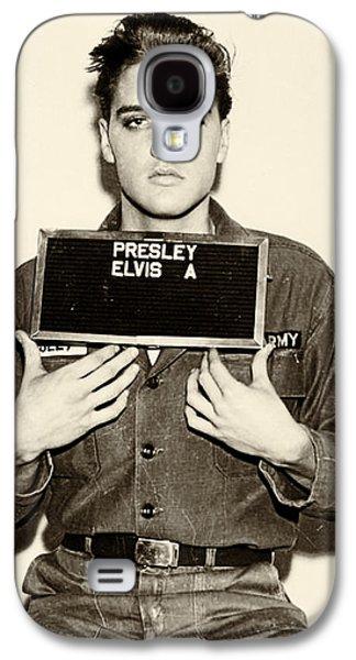 Elvis Presley Galaxy S4 Case - Elvis Presley - Mugshot by Bill Cannon