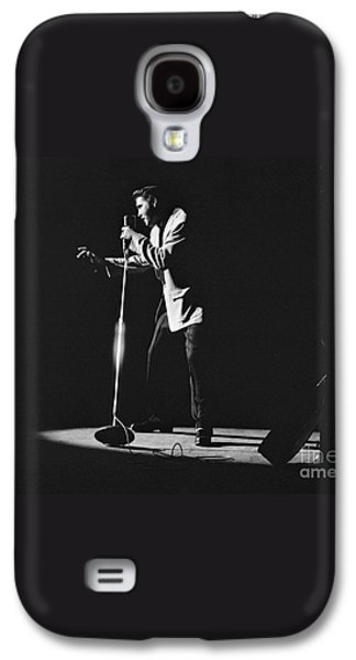 Elvis Presley On Stage In Detroit 1956 Galaxy S4 Case by The Harrington Collection