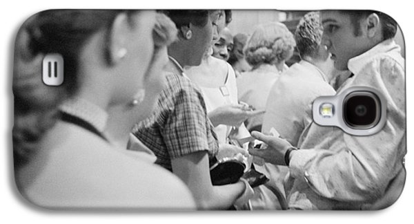 Elvis Presley Signing Autographs At The Fox Theater 1956 Galaxy S4 Case