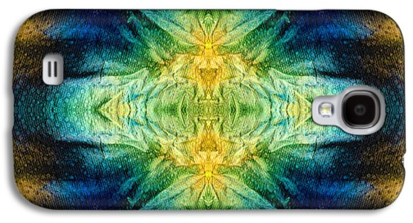 Emerald Kiss Abstract Art By Sharon Cummings Galaxy S4 Case by Sharon Cummings