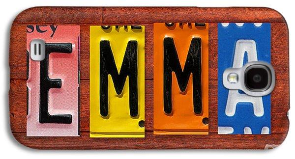 Emma License Plate Name Sign Fun Kid Room Decor Galaxy S4 Case