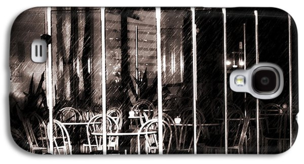 Empty Chairs And Empty Tables - Soft Sepia Vintage Galaxy S4 Case