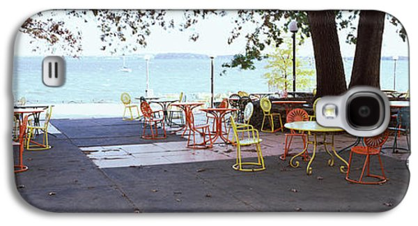Empty Chairs With Tables In A Campus Galaxy S4 Case