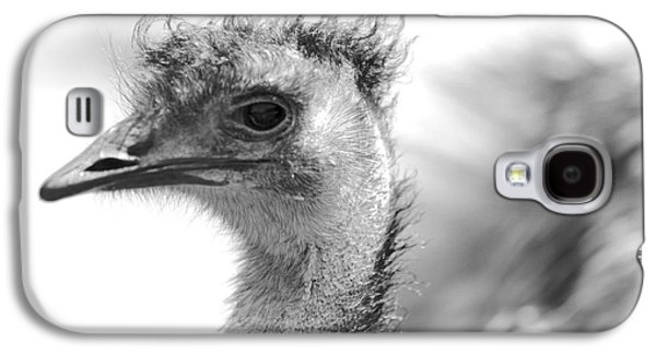 Emu - Black And White Galaxy S4 Case by Carol Groenen