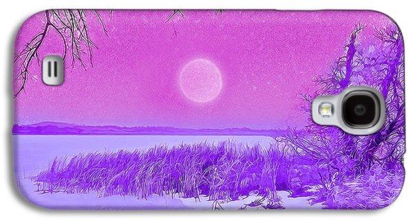 Rosy Hued Moonlit Lake - Boulder County Colorado Galaxy S4 Case by Joel Bruce Wallach