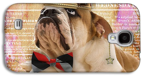 English Bulldog Bowtie Collection Galaxy S4 Case by Marvin Blaine