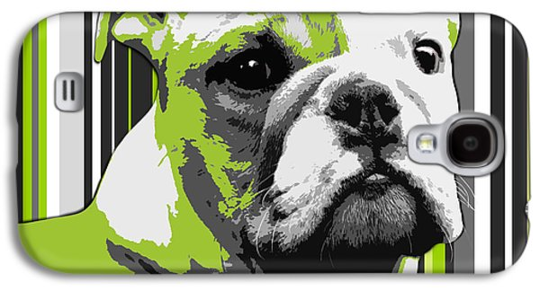 English Bulldog Puppy Abstract Galaxy S4 Case by Natalie Kinnear
