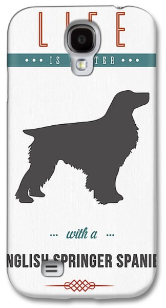English Springer Spaniel 01 Galaxy S4 Case by Aged Pixel