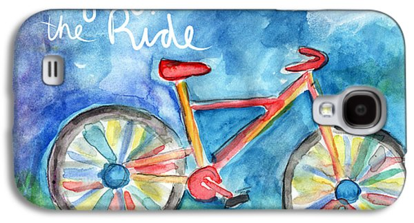Enjoy The Ride- Colorful Bike Painting Galaxy S4 Case by Linda Woods