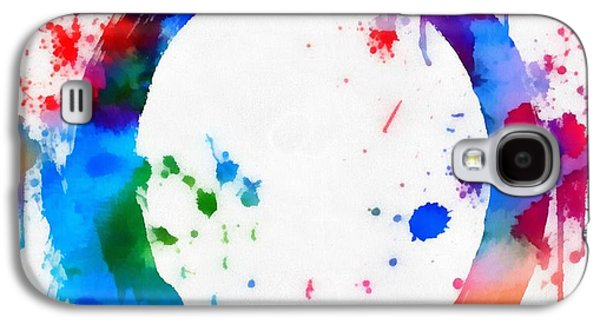 Enso Circle Paint Splatter Galaxy S4 Case by Dan Sproul