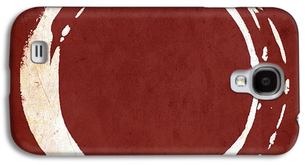 Enso No. 107 Red Galaxy S4 Case by Julie Niemela