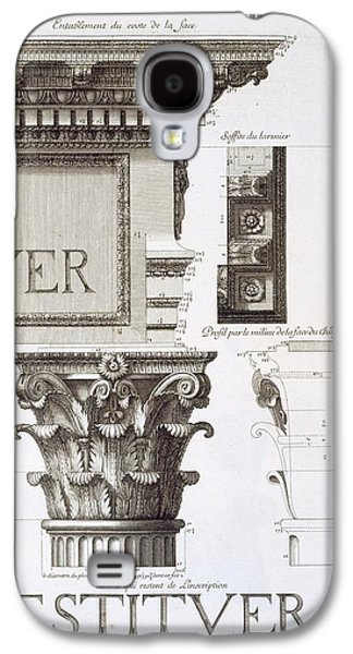 Entablature, Capital And Inscription Galaxy S4 Case by Antoine Babuty Desgodets