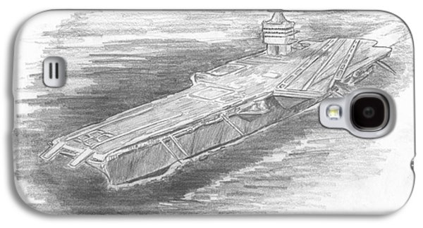 Enterprise Aircraft Carrier Galaxy S4 Case by Michael Penny