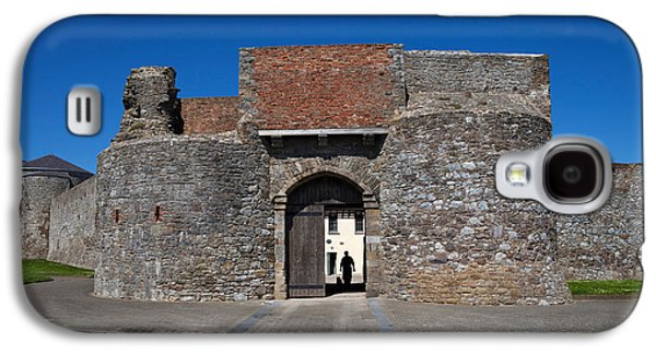 Entrance Gate, King Johns Castle Galaxy S4 Case by Panoramic Images