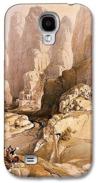 Entrance To Petra Galaxy S4 Case by David Roberts