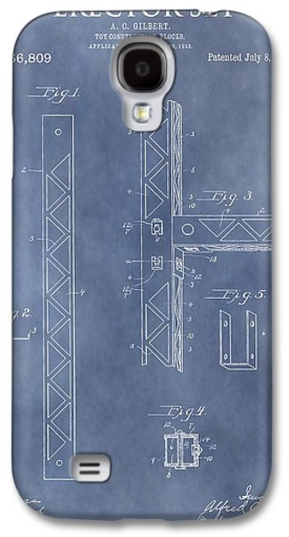 Erector Set Patent Galaxy S4 Case by Dan Sproul