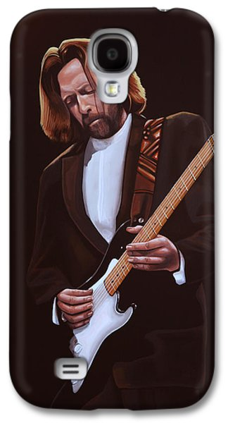 Eric Clapton Painting Galaxy S4 Case by Paul Meijering