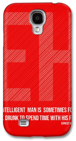Ernest Hemingway Quote Poster Galaxy S4 Case