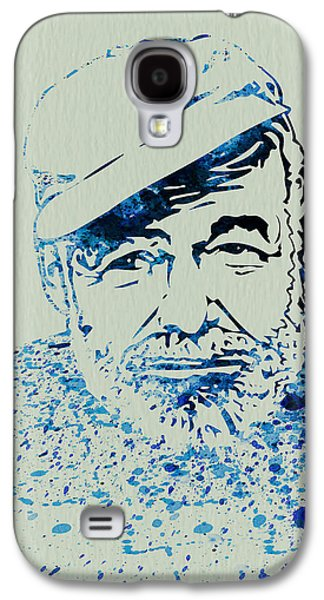 Ernest Hemingway Watercolor Galaxy S4 Case by Naxart Studio