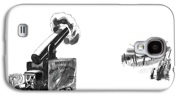 Ernesto Will Always Be A Human Cannonball. He's Galaxy S4 Case by Robert J. Day